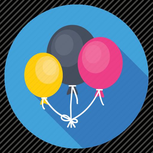balloons, birthday balloons, celebration, decoration, party balloons icon