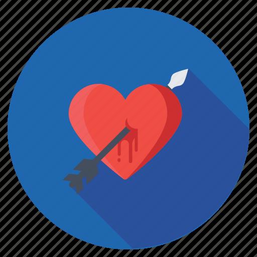 arrow on heart, breakup, broken heart, feeling hurt, heartbreak icon