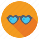 heart glasses, heart shades, heart shaped glasses, heart sunglasses, love glasses icon
