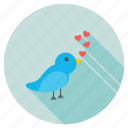 loving bird, valentine, loving dove, love message, columbidae