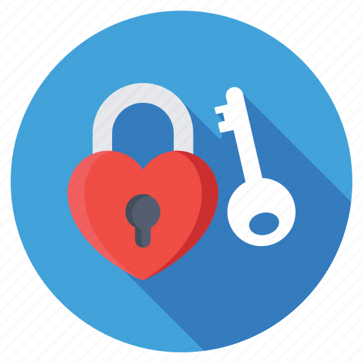 heart key, heart padlock, love privacy, love secret, lover secret icon
