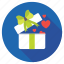 affectionate, gift box, loving gift, present box, valentines gift icon