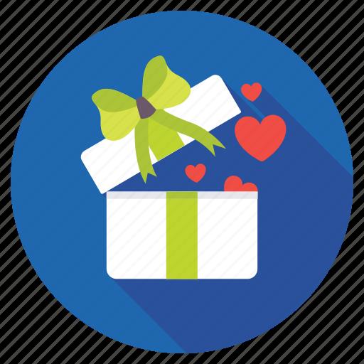 affectionate, gift box, loving gift, present box, valentines gift icon