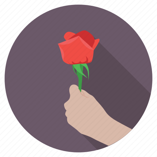 giving flower, giving rose, in love, proposal, valentine icon