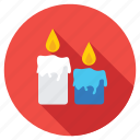 birthday candles, burning candles, candle flame, candle lights, candlestick icon