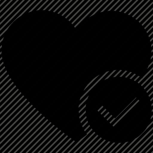 check, favorite, heart, love, romantic, valentine, valentines icon