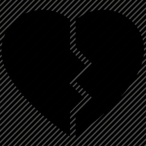breakup, broken heart, dating, heart, hurt, love, relationship icon