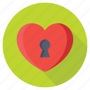 heart keyhole, heart shaped keyhole, love padlock, love secrete, valentine icon