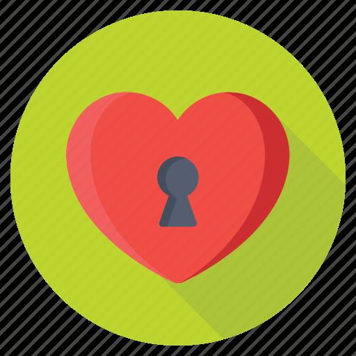 heart keyhole, heart shaped keyhole, love padlock, love secrete, valentine icon