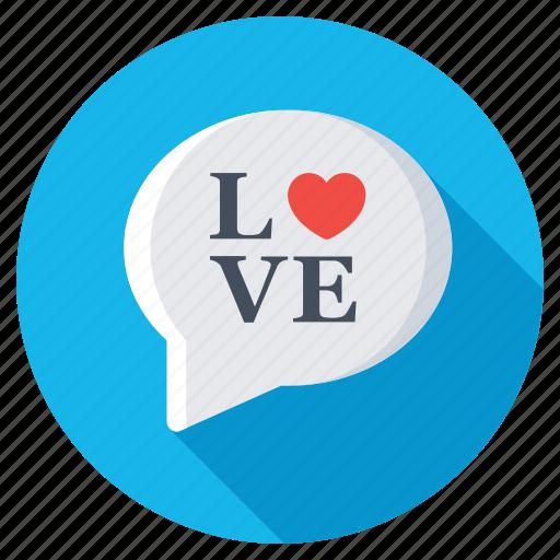 heart speech bubble, love chat, love message, romantic chatting, romantic conversation icon