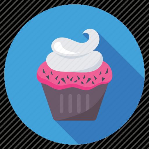 bakery, cupcake, dessert, fairy cake, muffin icon