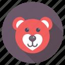 happy teddy bear, in love, joy of love, loving teddy bear, valentine day icon