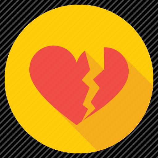 broken heart, brokenheartedness, feeling hurt, heartbreak, lovelessness icon