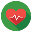 cardiogram, heart waves, heartbeat, love, pulse icon