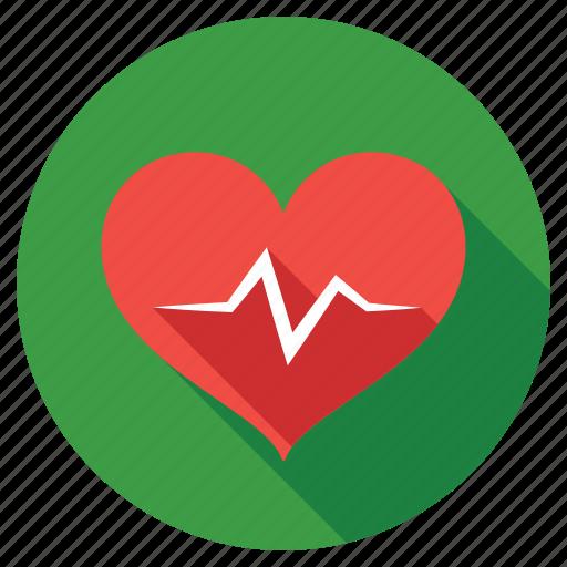 cardiogram, heart waves, heartbeat, love, pulse icon