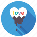 chocolate, chocolate splash, love chocolate flow, snack, valentine day chocolate icon
