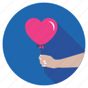 giving heart balloon, heart air balloon, heart balloon, heart shaped balloon, valentines day icon