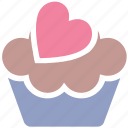 cake, cup, cupcake, dessert, heart, pink, sweet icon