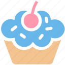 cake, cup, cupcake, dessert, food, pink, sweet icon