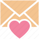 envelope, heart, invitation, invite, letter, message, wedding