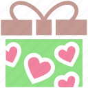 gift, gift box, heart, love, present, present box, wedding gift icon