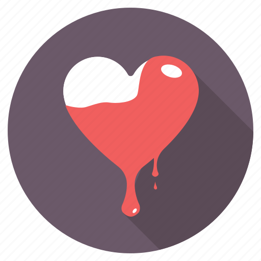 bleeding heart, crazy love, dripping heart, emotions, passion icon
