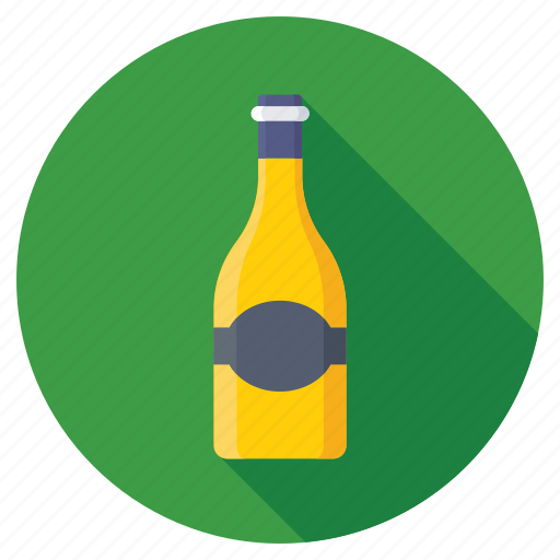 Drink, beverage, alcohol, wine bottle, champagne icon