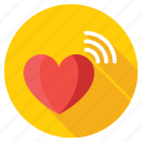 heart hotspot, heart signals, heart wifi, heart with signals, love signals icon