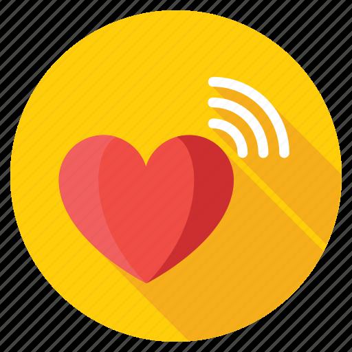 heart hotspot, heart signals, heart wifi, heart with signals, love signals icon