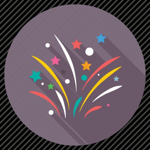 confetti, confetti explosion, confetti poppers, streamers, wedding confetti icon