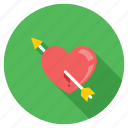 arrow on heart, breakup, broken heart, feeling hurt, heartbreak icon