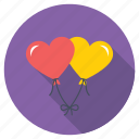 heart balloon, heart shaped balloon, helium balloon, red balloon, valentines day icon