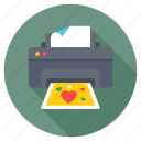 gift card printer, greeting card printer, loving printer, photo printer, valentines card printer icon