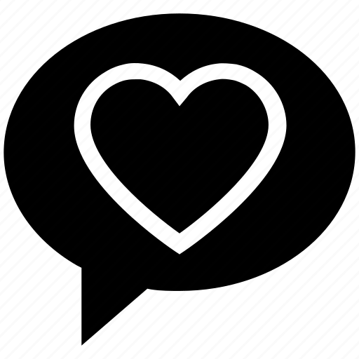 Chat, communication, conversation, heart, love, message, valentine icon - Download on Iconfinder