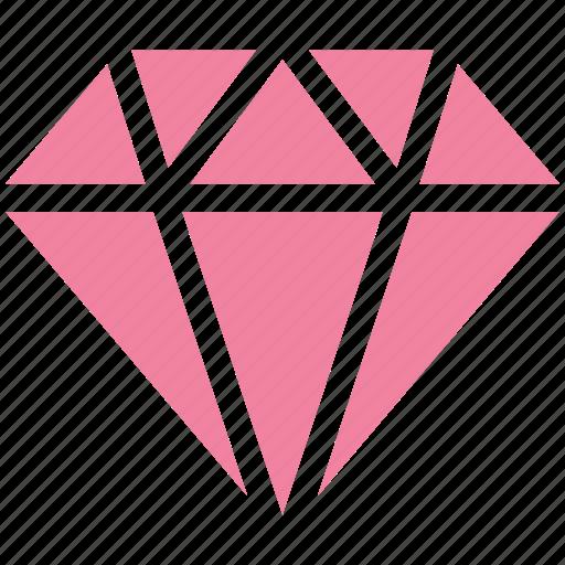 Brilliant Diamond Gem Gemstone Jewelry Luxury Ruby Icon