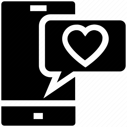 Chat, heart, love, message, mobile, talk, valentine icon - Download on Iconfinder