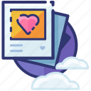 gallery, heart, love, memories, picture, romantic, valentine icon