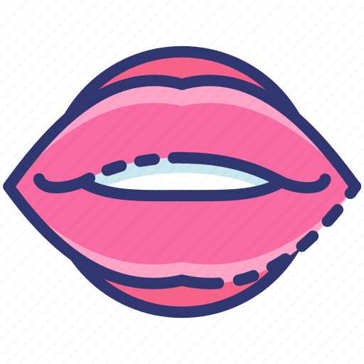 heart, kiss, lips, love, romantic, valentine icon
