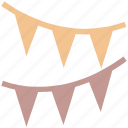 birthday, celebration, christmas, decoration, flags, holiday, party, popper, stripes icon