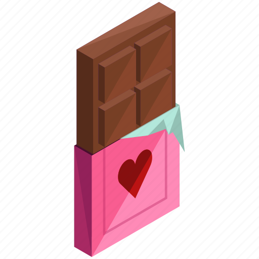 bar, candy, chocolate, love, sweet, valentine icon