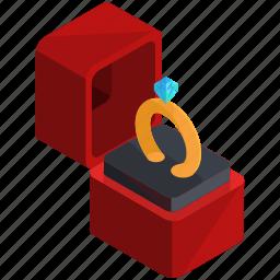 box, engagement, jewellery, love, ring, valentine icon