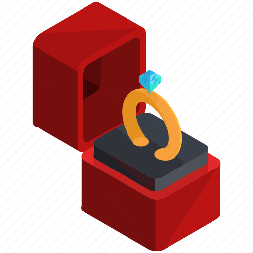 box, engagement, jewellery, love, ring, valentine icon