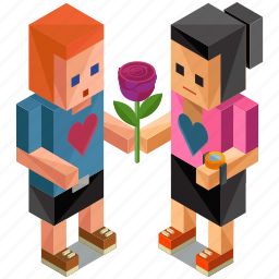 flower, gesture, love, people, person, rose, valentine icon