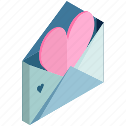 email, envelope, love, mail, message, valentine icon