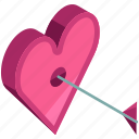 arrow, heart, love, target, valentine