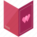 card, day, heart, love, valentine, valentines icon
