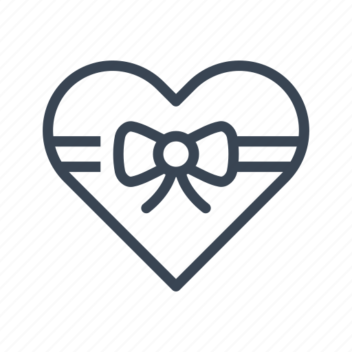 box, gift, heart, love, valentine's day icon