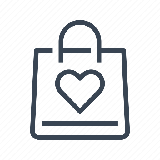 bag, heart, love, shopping, valentine's day icon