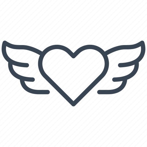 Angel Heart Love Valentine Wings Icon Download On Iconfinder