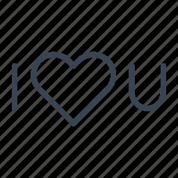 heart, i, love, romantic, you icon
